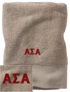 Alpha Sigma Alpha Embroidered Zero Twist Resort Towel