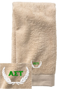 Alpha Sigma Tau  Embroidered Zero Twist Resort Hand Towel