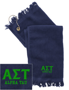 Alpha Sigma Tau  Embroidered Grommeted Finger Tip Towel