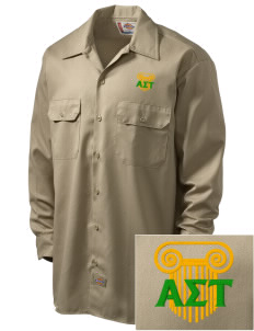 Alpha Sigma Tau Embroidered Dickies Men's Long-Sleeve Workshirt