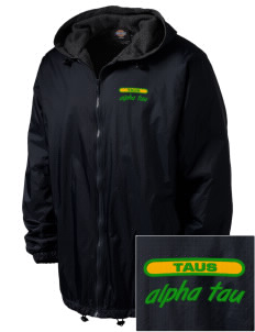 Alpha Sigma Tau Embroidered Dickies Men's Fleece-Lined Hooded Jacket
