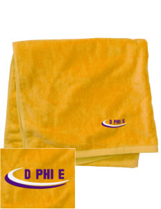 Delta Phi Epsilon Embroidered Beach Towel