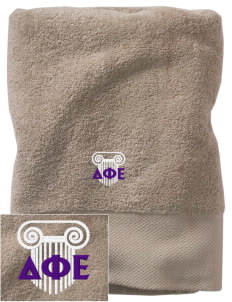 Delta Phi Epsilon Embroidered Zero Twist Resort Towel