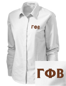 Gamma Phi Beta Embroidered Women's Classic Oxford