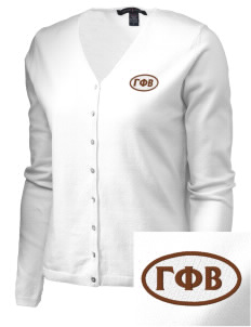 Gamma Phi Beta Embroidered Women's Stretch Cardigan Sweater