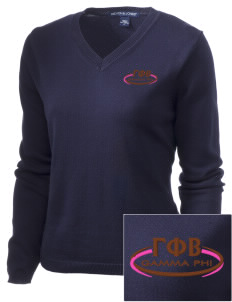 Gamma Phi Beta Embroidered Women's V-Neck Sweater