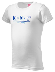 Kappa Kappa Gamma  Girl's Fine Jersey Longer Length T-Shirt