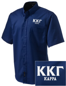 Kappa Kappa Gamma Embroidered Men's Easy Care Shirt