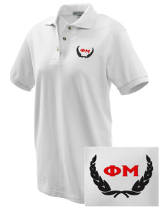 Phi Mu Embroidered Women's Pique Polo