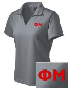 Phi Mu Embroidered Women's Dri Mesh Polo