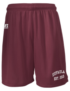 "Eufaula Middle School Spartans  Russell Men's Mesh Shorts, 7"" Inseam"