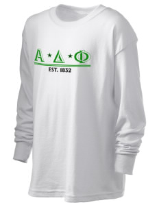 Alpha Delta Phi Kid's 6.1 oz Long Sleeve Ultra Cotton T-Shirt