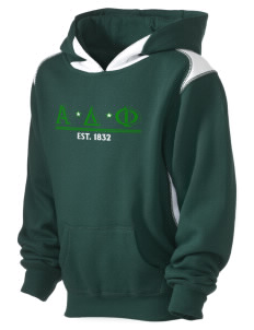 Alpha Delta Phi Kid's Pullover Hooded Sweatshirt with Contrast Color