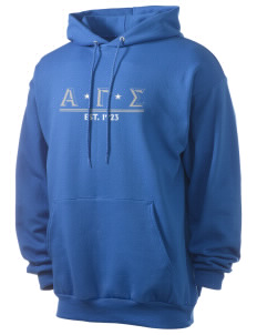 Alpha Gamma Sigma Men's 7.8 oz Lightweight Hooded Sweatshirt