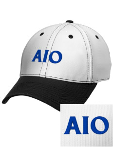 Alpha Iota Omicron Embroidered New Era Snapback Performance Mesh Contrast Bill Cap