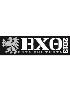 "Beta Chi Theta Bumper Sticker 11"" x 3"""