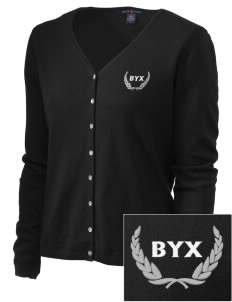 Beta Upsilon Chi Embroidered Women's Stretch Cardigan Sweater