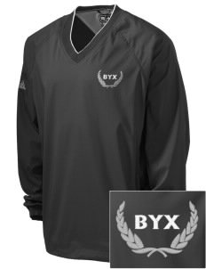 Beta Upsilon Chi Embroidered adidas Men's ClimaProof V-Neck Wind Shirt