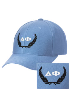 Delta Phi Embroidered Wool Adjustable Cap