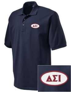 Delta Sigma Iota Embroidered Tall Men's Pique Polo