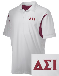 Delta Sigma Iota Embroidered Men's Back Blocked Micro Pique Polo