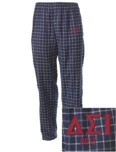 Delta Sigma Iota Embroidered Men's Button-Fly Collegiate Flannel Pant