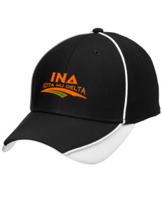 Iota Nu Delta Embroidered New Era Contrast Piped Performance Cap