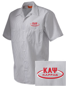 Kappa Alpha Psi  Embroidered Mens' Industrial Short Sleeve Work Shirt w/Melamine Button