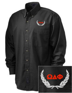 Omega Delta Phi Embroidered Tall Men's Twill Shirt
