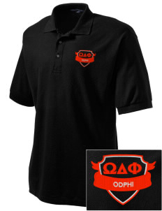Omega Delta Phi Embroidered Tall Men's Silk Touch Polo