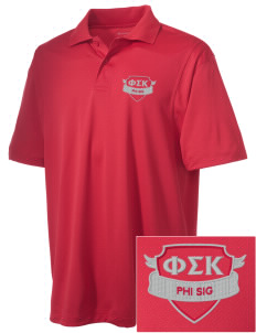 Phi Sigma Kappa Embroidered Men's Micro Pique Polo