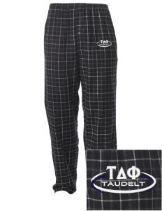 Tau Delta Phi Embroidered Men's Button-Fly Collegiate Flannel Pant