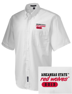 Arkansas State University Red Wolves  Embroidered Men's Easy-Care Shirt