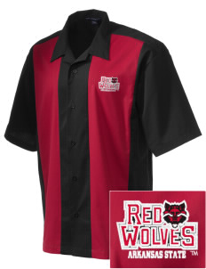 Arkansas State University Red Wolves Men's Retro Camp Shirt