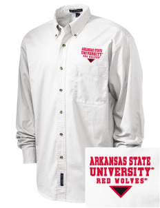 Arkansas State University Red Wolves Embroidered Men's Twill Shirt