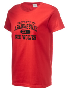 Arkansas State University Red Wolves Women's 6.1 oz Ultra Cotton T-Shirt