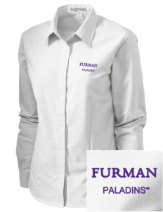 Furman University Paladins Embroidered Women's Classic Oxford