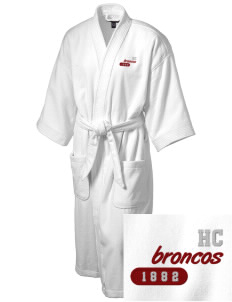 Hastings College Broncos Embroidered Terry Velour Robe