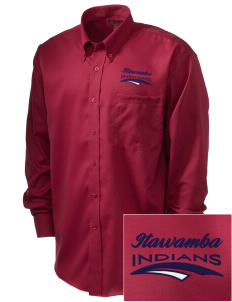 Itawamba Community College Indians  Embroidered Men's Nailhead Non-Iron Button-Down