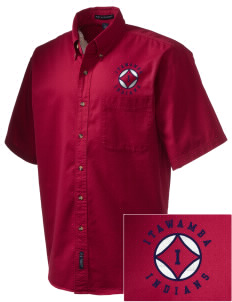 Itawamba Community College Indians Embroidered Men's Short Sleeve Twill Shirt