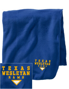 Texas Wesleyan University Rams Embroidered Holloway Stadium Fleece Blanket