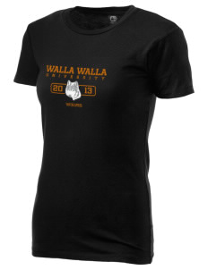 Walla Walla University Wolves Alternative Women's Basic Crew T-Shirt