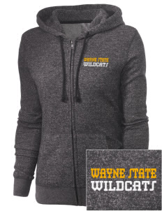 Wayne State College Wildcats Embroidered Women's Marled Full-Zip Hooded Sweatshirt