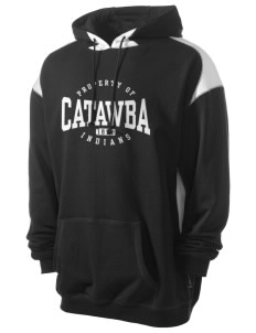 Catawba College Indians Men's Pullover Hooded Sweatshirt with Contrast Color