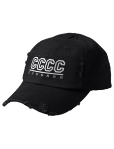 Central Carolina Community College  Cougars Embroidered Distressed Cap