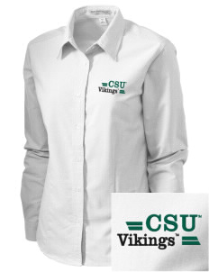 Cleveland State University Vikings Embroidered Women's Classic Oxford