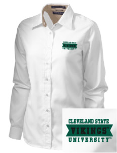 Cleveland State University Vikings  Embroidered Women's Pima Advantage Twill