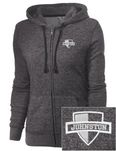 Johnston Community College College Embroidered Women's Marled Full-Zip Hooded Sweatshirt