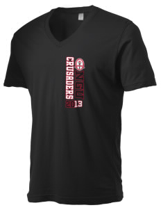 North Greenville University Crusaders Alternative Men's 3.7 oz Basic V-Neck T-Shirt