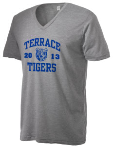 Terrace Elementary School Tigers Alternative Men's 3.7 oz Basic V-Neck T-Shirt